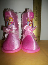 Disney Princess Baby Clothes 5-6 Princesses Toddler Slipper Boot Pink Foot Wear - $14.24