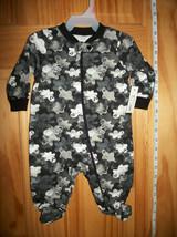 Faded Glory Baby Clothes 0M-3M Newborn Bodysuit Black Ghost Creeper Costume New - $12.34