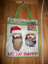 Duck Dynasty Christmas Tote Holiday Ho Ho Happy Zippered Handled Eco Tre... - $9.49