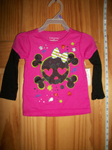 Faded Glory Baby Clothes 12M Infant Halloween Shirt Top Heart Skull Rose Blouse - $9.49