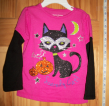 Faded Glory Baby Clothes 18M Infant Halloween Shirt Top Sparkle Kitty Cat Blouse - $9.49