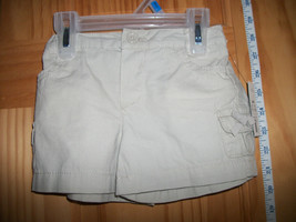 Faded Glory Baby Clothes 24M Girl Shorts Solid Beige Canvas Pull-up Bottoms New - $9.49