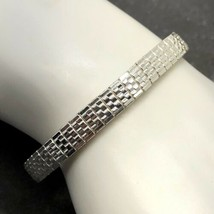 NWT Napier Vintage Woven Textured Silver Colored Elastic Stretch Bracelet - $14.84