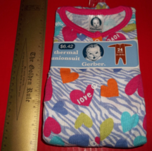 Fashion Gift Gerber Baby Clothes 24M Infant Thermal Unionsuit Pink Heart Creeper - $6.64