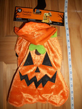 Pet Holiday Dog Costume XS Pumpkin Halloween Outfit Hat Canine Animal Tunic New - $7.59