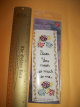 Craft Gift Sandi Phipps Thread Kit Counted Cross Stitch Sister Love Book... - $9.49