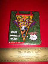 Scholastic Activity Book Kit Table-Top Sports Games Hockey Football New ... - $9.49