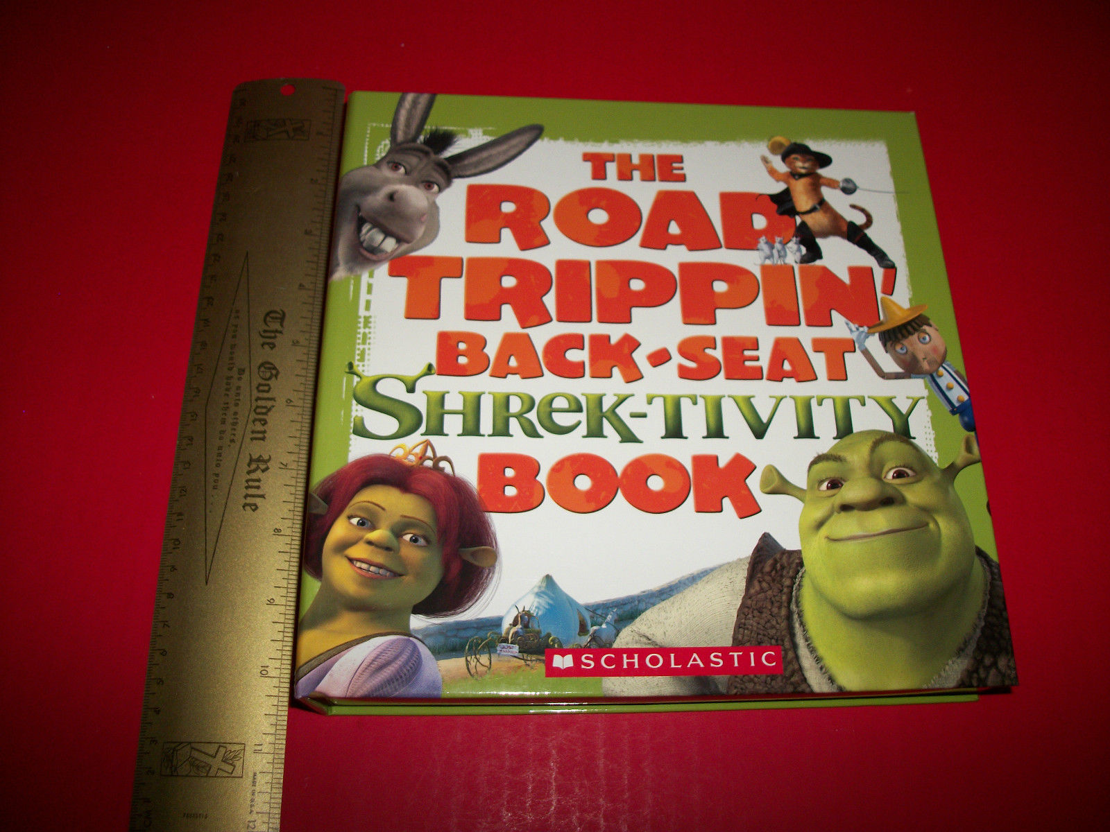 Shrek Craft Kit Book Shrektivity Road Trippin Back Seat Scholastic Activity Set