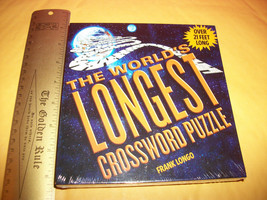Toy Gift Cross Word Game The World's Longest Crossword Puzzle 21 Feet Long Fun