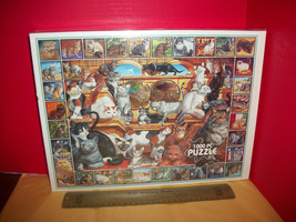 Toy Gift Jigsaw Puzzle 1000 Pc White Mountain World of Cats Feline Jig Saw Game