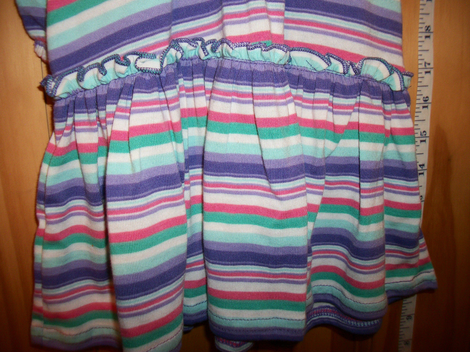 Wonder Kids Baby Clothes 18M Infant Girl Outfit Bloomers Purple Stripe Dress Set