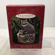 1999 Majestic Wilderness #3 Raccoons Hallmark Christmas Tree Ornament MI... - $12.38