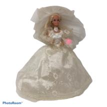 """Vintage Mattel 1989 Wedding Fantasy Barbie Doll 11.5"""" Accessories RARE - $49.99"""