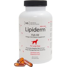 Lipiderm Gel Capsules for Large Breed for Dogs - 2 size - Omega 3 & 6 fa... - $18.99+
