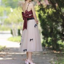 Handmade Champagne Tulle Skirt Outfit High Waisted Tulle Skirt Princess Skirt image 4