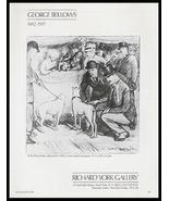 Dog Show 1912 Crayon George Bellows 1987 Art Gallery Ad - $14.99