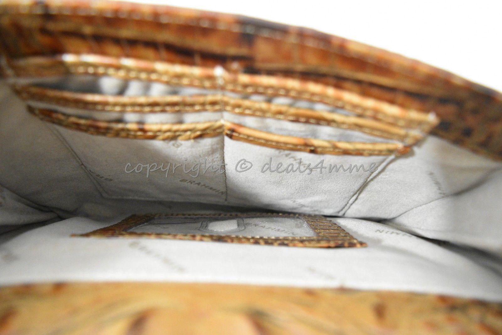 NWT Brahmin Manhattan Leather Shoulder/Crossbody Bag in Toasted Almond Melbourne image 7