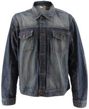 Men's Classic Long Sleeve Cotton Button Up Empire Denim Jean Jacket Size 2XL image 1