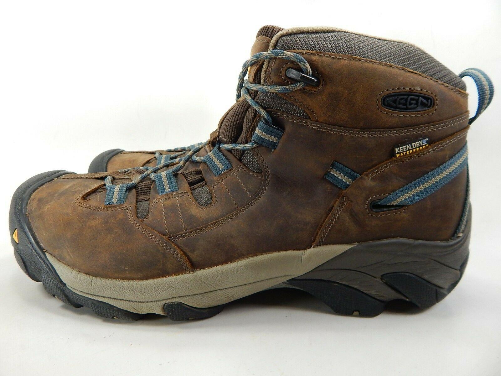 Keen Detroit Mid Size 13 M (D) EU 47 Men's Steel Toe Work Boots Brown 1007004