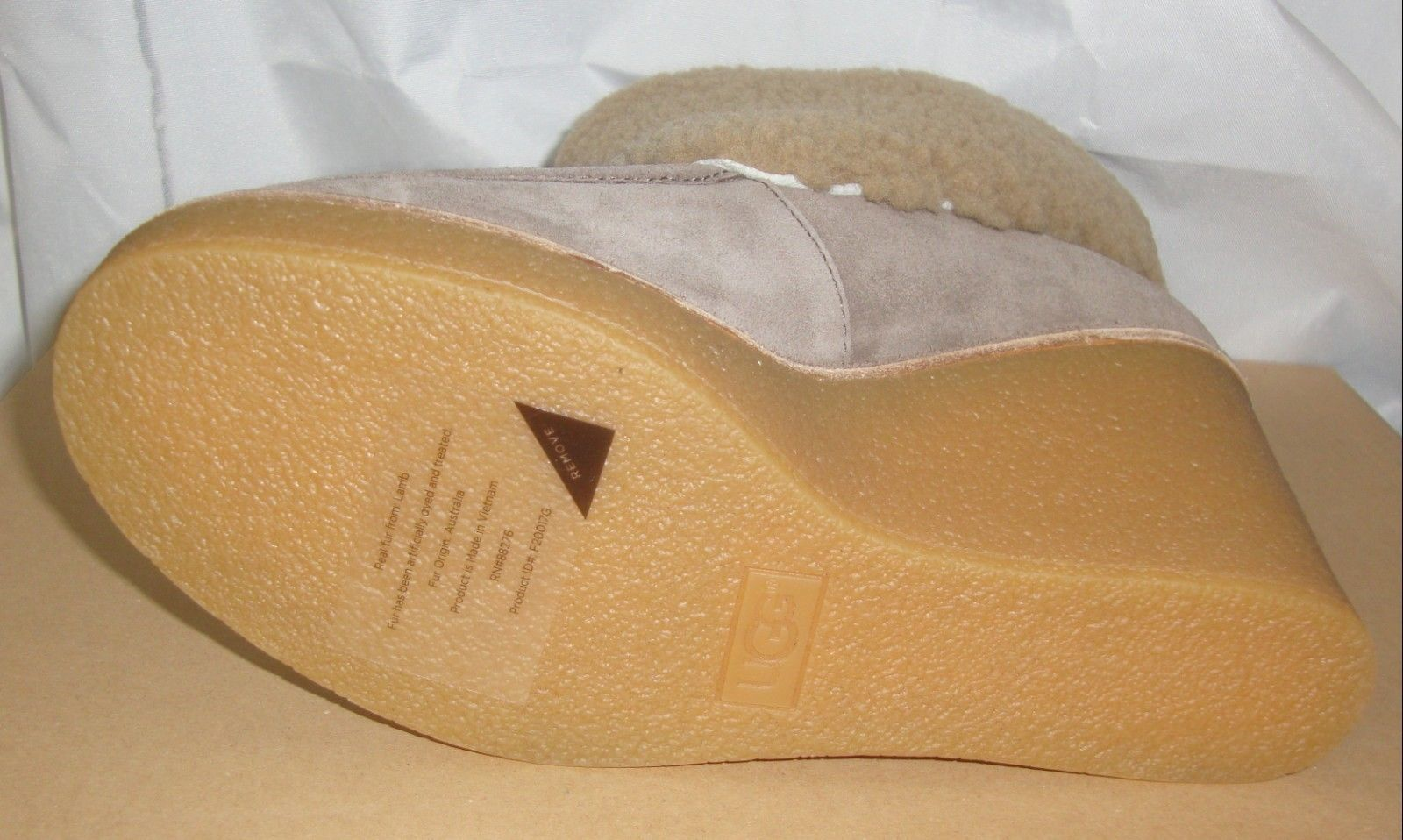 56a8b28e189 Ugg Coldin Mouse Suede Sheepskin Cuff Wedge and 50 similar items