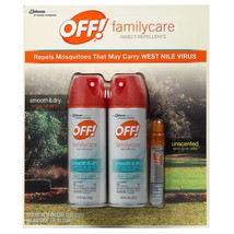 OFF Insect Repellent Family Care 3 Pack Smooth and Dry Powder Dry Formula - $14.99