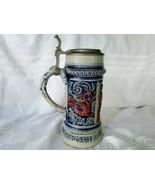 Vintage Old Gerz Beer Stein Cobalt Blue Polychrome Glaze Red Dragons in ... - $213.75