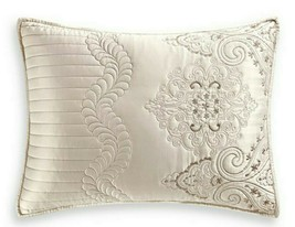 Martha Stewart Quilted Standard Sham Lush Embroidery White 20x28 Cover $60 - $28.22