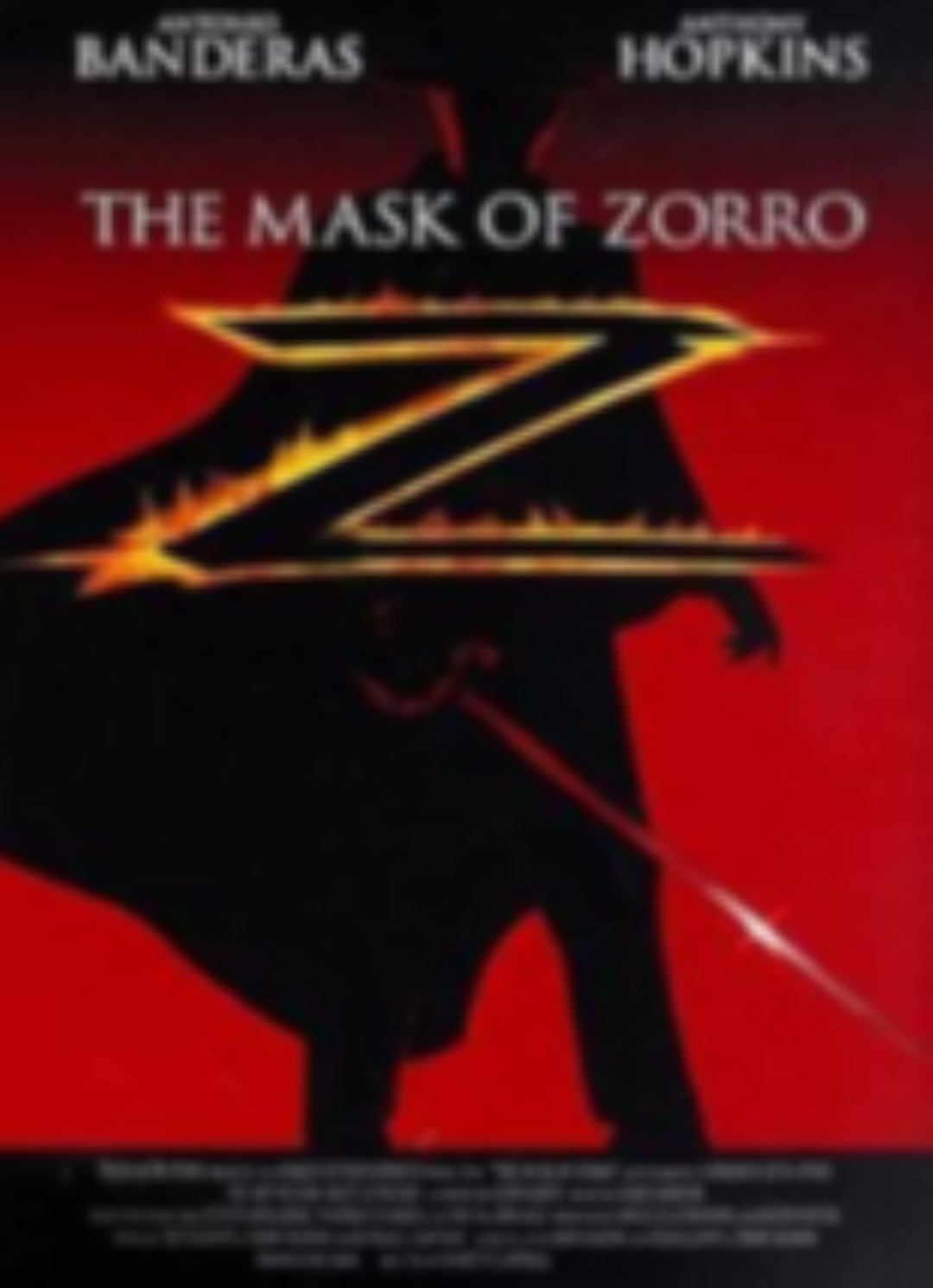 The Mask of Zorro Vhs
