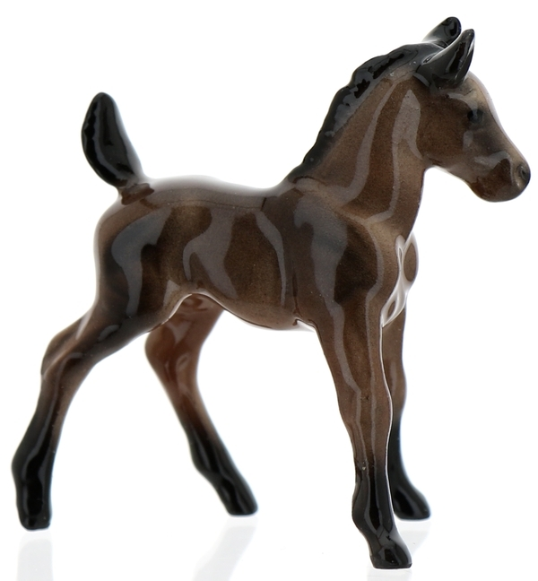Hagen-Renaker Miniature Ceramic Horse Figurine Wild Mustang Colt Bay - $10.49