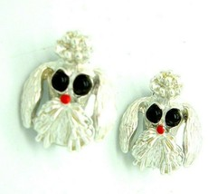 Vintage Scatter Pins Lot of 2 Poodle Dog Brooches Silver tone kitsch - $13.81