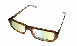 Converse Mens Ophthalmic Eyeglass Modified Rectangle Plastic Frame Digital Brown - $35.99
