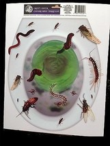 Creepy Horror Prop-BUGS TOILET TOPPER-Cling Decal Bathroom Halloween Dec... - $4.92