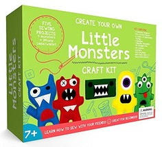 Little Monsters Beginners Sewing Craft Kit for Kids (Ages 7 to 12) Educa... - $35.42