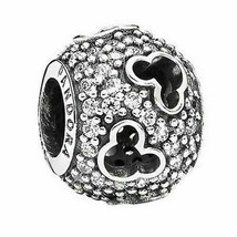 "Pandora ALE sterling silver 925 Disney ""Mickey Silhouette"" Dangle charm ... - $27.10"