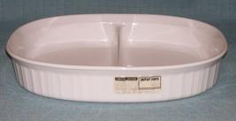 Vtg Corning Ware FRENCH WHITE F-6-B Divided Dish/ Casserole -1.8 L -No L... - $9.95