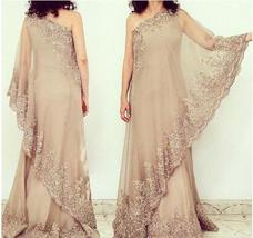 Light Champagne Chiffon Lace Mother Of the Bride Dress Formal Evening Go... - $153.88