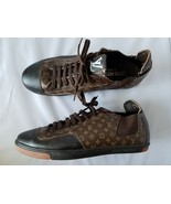 Louis Vuitton Match Up Trainers Men's Shoes Sneakers Brown Monogram 44 / 11 - $664.94