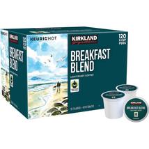 120 Kirkland Signature Breakfast Blend Coffee K Cups Light Roast K-Pod ... - $42.56