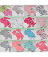 NWT GIRLS FOOTED PAJAMAS FLEECE 6M 18M 24M 2T 3T 4T 5T  U PICK NEW CARTERS - $18.69