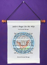 Sailor's Prayer for His Wife - Personalized Wall Hanging (442-1) - $18.99