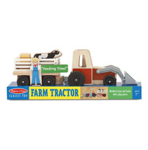 Melissa & Doug Wooden Farm Tractor + FREE Mini Scratch Art Activity Set - $34.60
