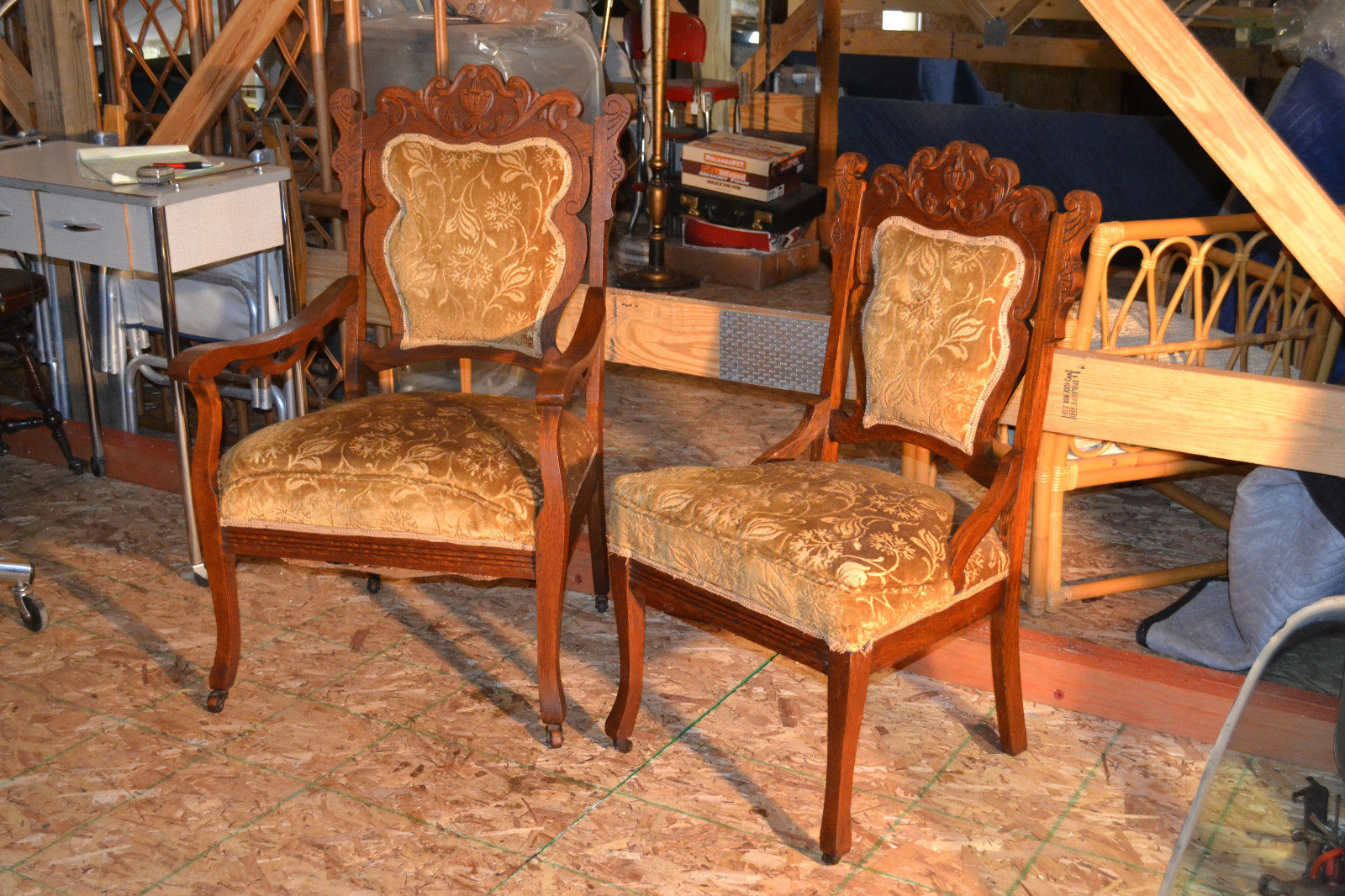 Antique Victorian Chairs Eastlake Wood Arm Chair