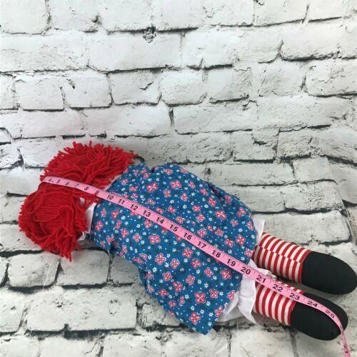 Applause Raggedy Anne Plush Classic Retro Rag Doll Red Yarn Hair Stuffed Toy image 8