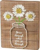 Daisy Mason Jar Quote String Art Sign Grow Through What You Go Through 8... - $22.48
