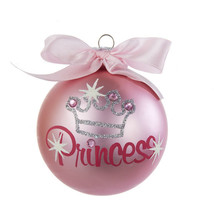 Pink Princess Glitter Ornament  By Kurt Adler - $8.99