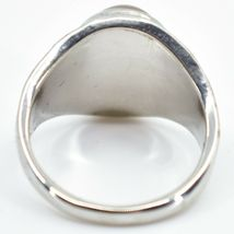 Vintage Inspired Style Silver & Black Painted Color Changing Cabochon Mood Ring image 4