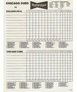 1991 Chicago Cubs v Philadelphia Phillies Scorecard NEAR MINT Wrigley UN... - $4.99