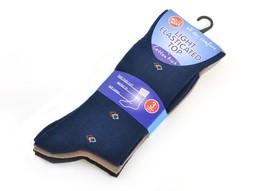Pack of 3: OCTAVE® Mens Socks, Diamond Pattern, US 8-12, Marine Blue/Bei... - $17.41