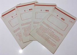 Original WWII U.S. Military 3 V-Mail Victory Mail Envelopes Unused Self ... - $2.99