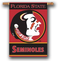 """Florida State Seminoles 2 Sided 28"""" x 40"""" House Banner Flag W/ Pole Sleeve - $24.65"""